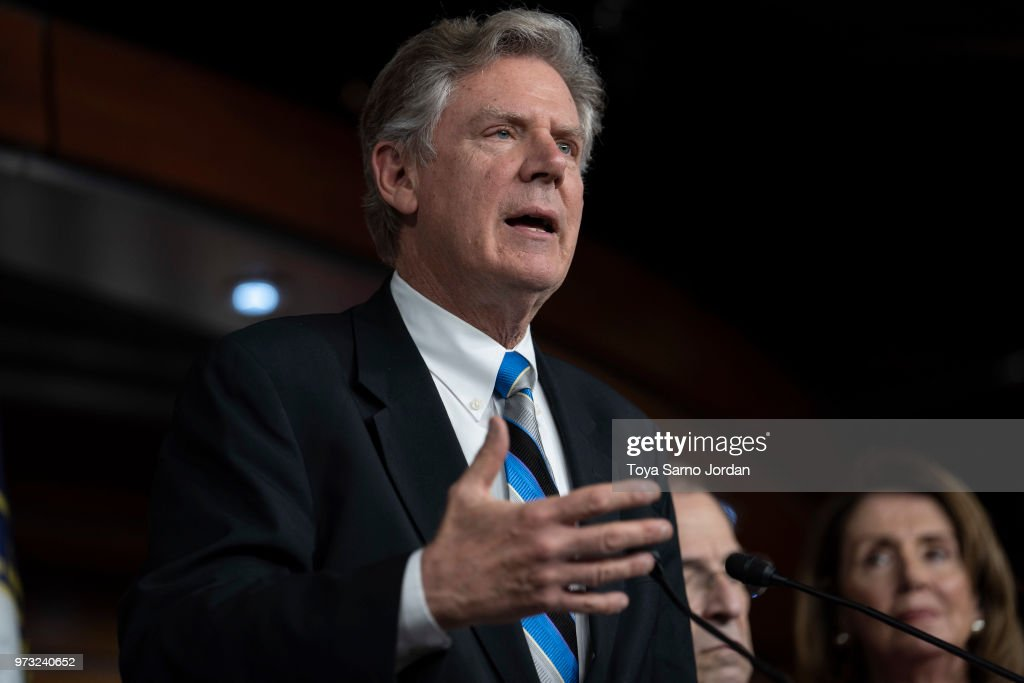 Rep. Frank Pallone (D-NJ) speaks during a news conference held by House Democrats condemning the Trump Administration's targeting of the Affordable Care Act's pre-existing condition, in the US Capitol on June 13, 2018 in Washington, DC.