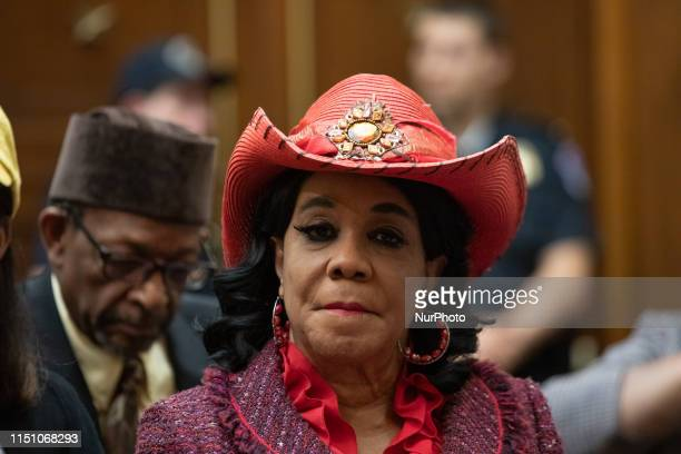 Rep. Frederica Wilson , attends the hearing about reparations for the descendants of slaves before the House Judiciary Subcommittee on the...