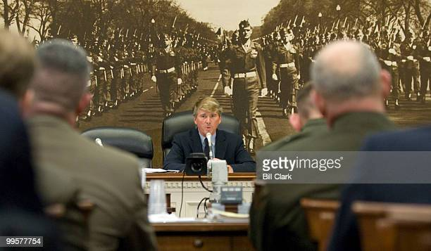 Rep Gene Taylor DMiss chairman of the House Seapower and Expeditionary Forces Subcommittee conducts the committee's hearing on the Marine Corps force...