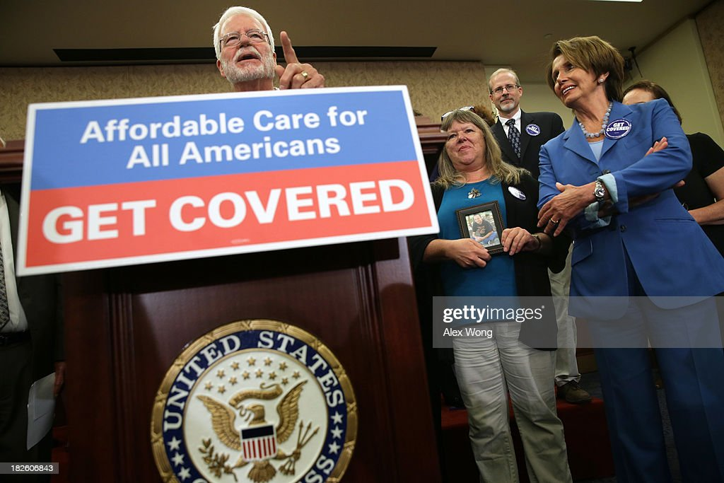 Democrats Hold Ceremony Marking Start Of Affordable Care Act