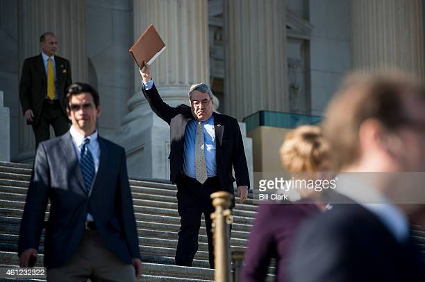 Rep GK Butterfield DNC signals his staff waiting to pick him up following the final vote of the week on Friday Jan 9 2015
