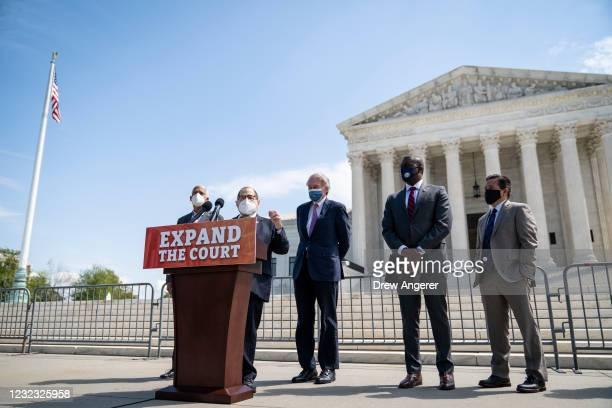 Rep. Hank Johnson , House Judiciary Committee Chairman Rep. Jerrold Nadler , Sen. Ed Markey , Rep. Mondaire Jones and Chris Kang, co-founder and...