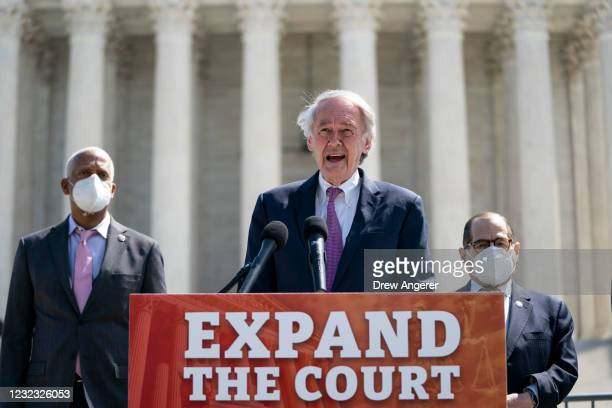 Rep. Hank Johnson , Sen. Ed Markey , and House Judiciary Committee Chairman Rep. Jerrold Nadler hold a press conference in front of the U.S. Supreme...