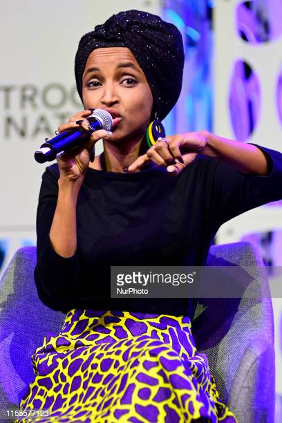 Rep Ilhan Omar at Netroots Nation convention in Philadelphia PA on July 13 2019