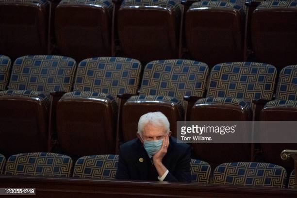 Rep. Jack Bergman, R-Mich., attends a joint session of Congress to certify the Electoral College votes of the 2020 presidential election in the House...