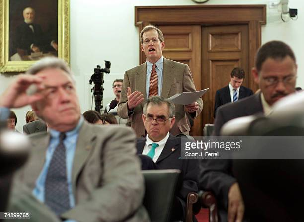 Rep Jack Kingston RGa during the markup of fiscal 2007 supplemental appropriations In foreground left to right Rep Rodney Alexander RLa Rep Ray...