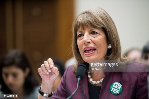 Rep Jackie Speier DCalif testifies during the House Judiciary Constitution Civil Rights and Civil Liberties Subcommittee hearing on the Equal Rights...