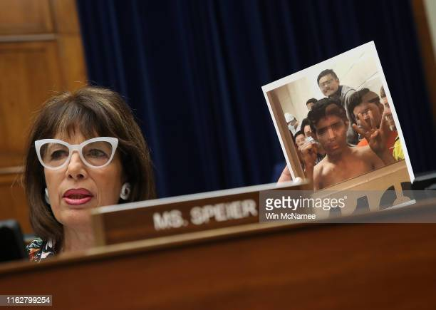 Rep Jackie Speier questions acting Homeland Security Secretary Kevin McAleenan while he testifies before the House Oversight and Reform Committee on...