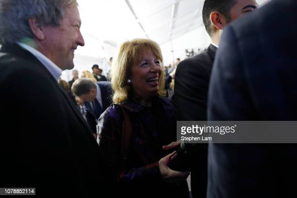 Rep Jackie Speier smiles during the inauguration of Gavin Newsom as governor of California on January 7 2019 in Sacramento California Gavin Newsom...