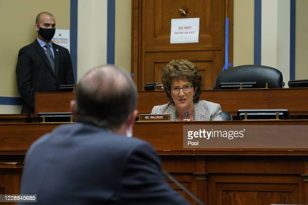 Rep. Jackie Walorski speaks as Secretary of Health and Human Services Alex Azar testifies before the House Select Subcommittee on the Coronavirus...