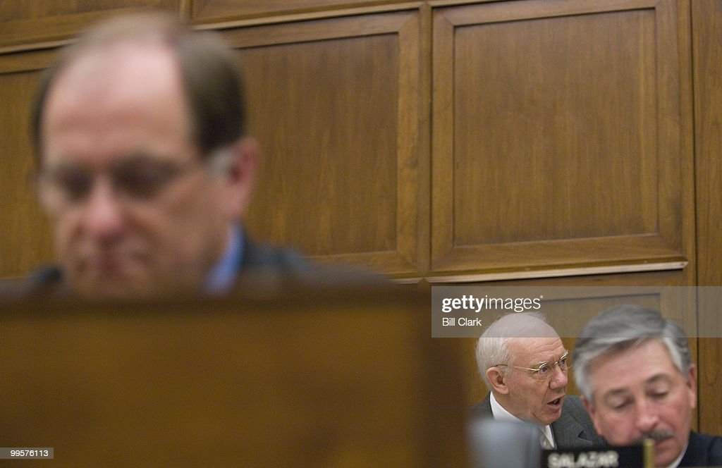 Rep. James Oberstar, D-Minn., makes his opening statement during the House Transportation and Infrastructure Committee's Water Resources and Environment Subcommittee hearing on Great Lakes Water Quality on Wednesday, Jan. 23, 2008. Also show are Rep. Michael Capuano, D-Mass., to the left, and Rep. John Salazar, D-Colo., right.