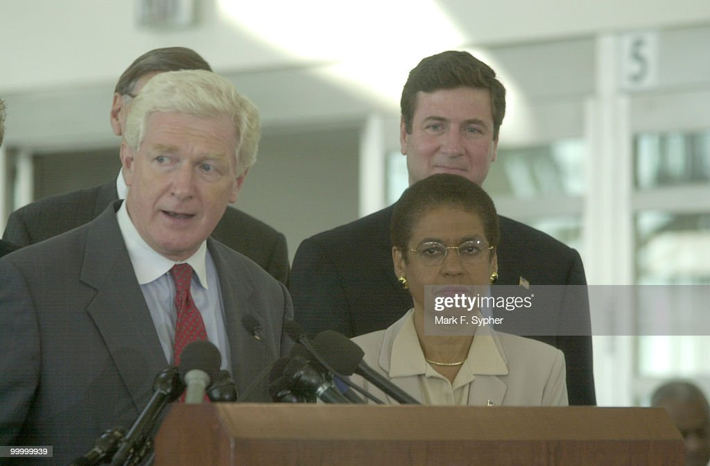 Rep. James P. Moran (D-VA) was joined by Virginia Senator George Allen (R), and Elanor Holmes Norton (D-DC), to name a few, at the re-opening of Regan National Airport on Thursday, the first day the airport has been open since the September 11 terrorist attacks.