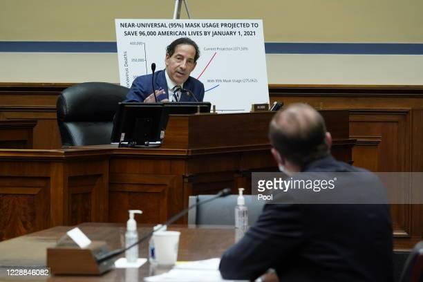 Rep. Jamie Raskin speaks as Secretary of Health and Human Services Alex Azar testifies before the House Select Subcommittee on the Coronavirus...
