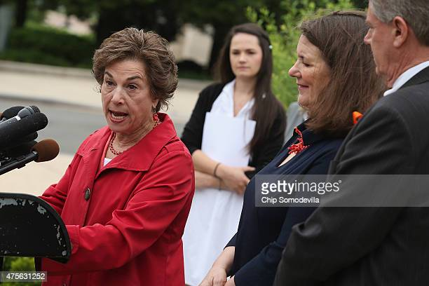 Rep Jan Schakowsky Angelina Sujata Rep Diane DeGette and Rep Frank Pallone hold a news conference with outside the US Capitol June 2 2015 in...