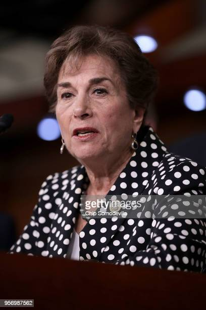 Rep Jan Schakowsky speaks during a news conferene with fellow Democratic members to criticize President Donald Trump's decision to pull out of the...
