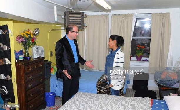 S Rep Jared Polis met with Jeanette Vizguerra in her bedroom in the basement of First Unitarian Church Wednesday March 3 2017 Vizguerra has taken...