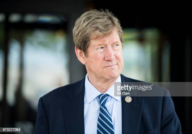 Rep Jason Lewis RMinn leaves the House Republican Conference meeting at the Capitol Hill Club in Washington on Wednesday morning June 13 2018