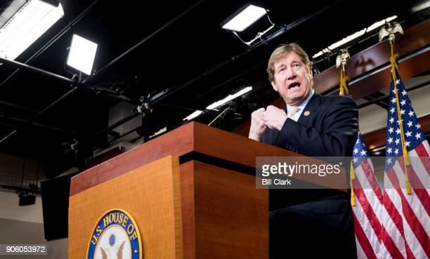 Rep Jason Lewis RMinn speaks during the House GOP leadership news conference following the House Republican Congerence meeting on Wednesday Jan 17...