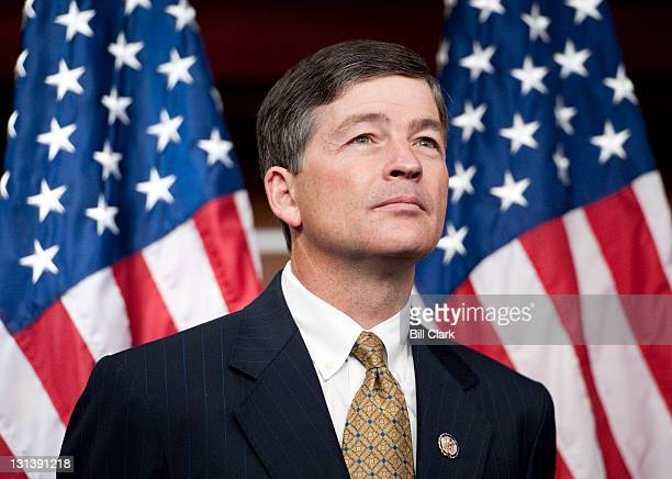 Rep Jeb Hensarling RTexas cochair of the Joint Select Committee on Deficit Reduction participates in a news conference with other House Republican...