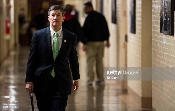 Rep Jeb Hensarling RTexas leaves the House Republican Conference meeting on Friday Jan 4 2013