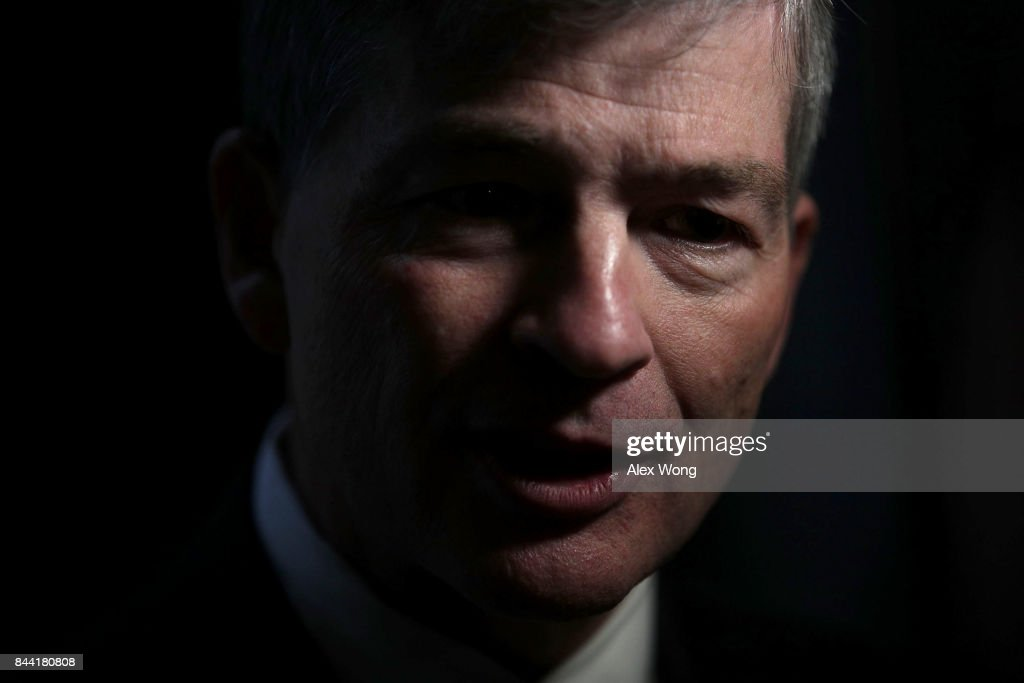 U.S. Rep. Jeb Hensarling (R-TX) speaks as he is interviewed by a TV channel after a vote at the Capitol September 8, 2017 in Washington, DC. The House has passed a package with a vote of 316 - 90 to fund the disaster relief for Hurricane Harvey, raise the debt ceiling for three months and keep the government open through the end of December.