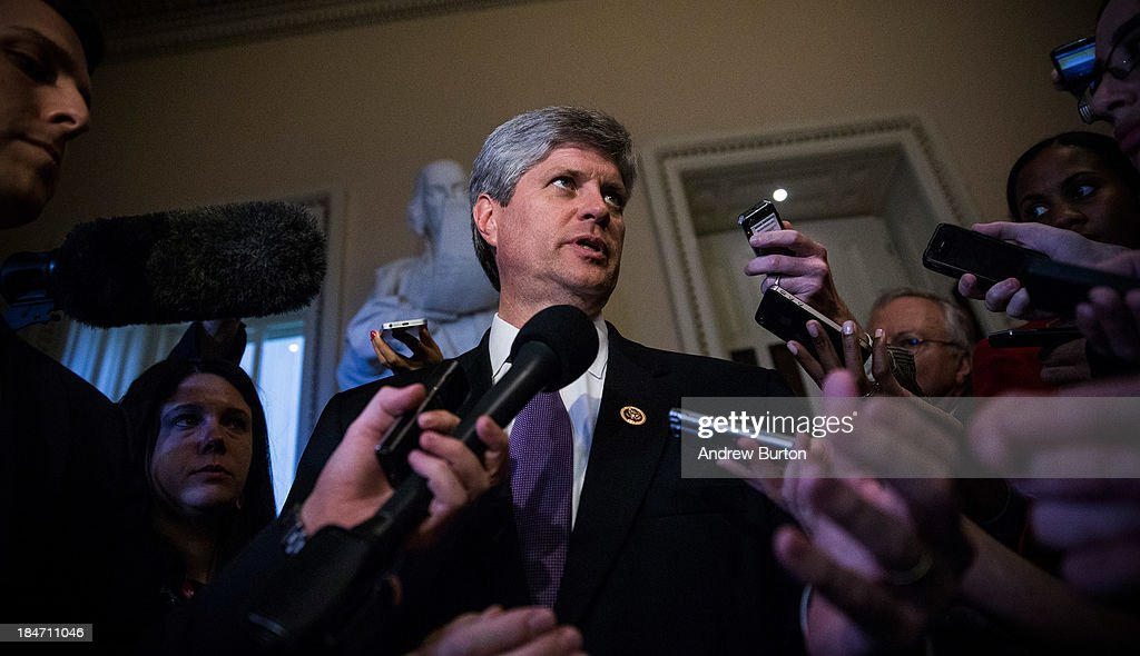 U.S. Rep. Jeff Fortenberry (R-NE) walks through the Capitol Building on October 15, 2013 in Washington, DC. The government has been shut down for 14 days.
