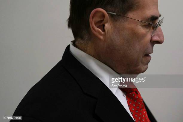 S Rep Jerrold Nadler ranking member of the House Judiciary Committee arrives at the Rayburn House Office Building where former Federal Bureau of...