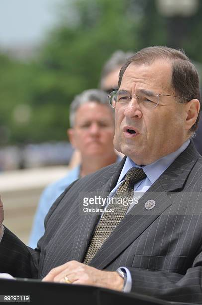 Rep Jerrold Nadler speaks a news conference to announce a congressional resolution establishing the critical role of housing in fighting HIV and AIDS...