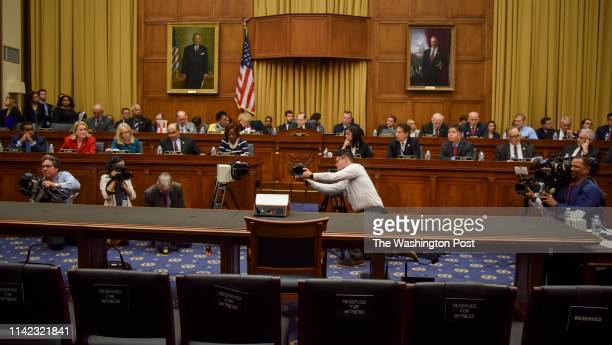 Rep Jerrold Nadler the Chairperson of the House Judiciary Committee starts a committee hearing in front of an empty chair where Attorney General...