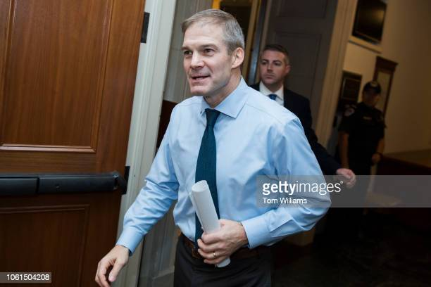Rep Jim Jordan ROhio leaves the House Republican leadership election in Longworth Building on November 14 2018