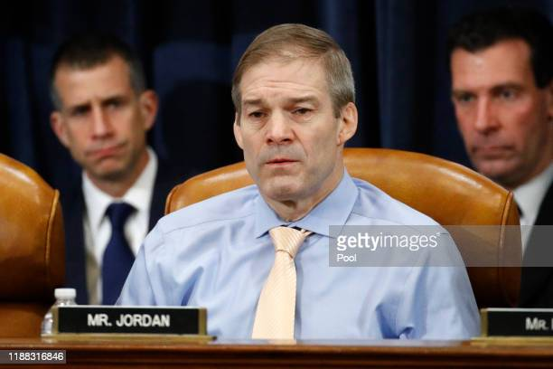 Rep Jim Jordan ROhio votes no on the first article of impeachment as the House Judiciary Committee holds a public hearing to vote on the two articles...