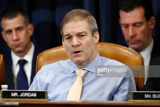 Rep Jim Jordan ROhio votes no on the second article of impeachment as the House Judiciary Committee holds a public hearing to vote on the two...