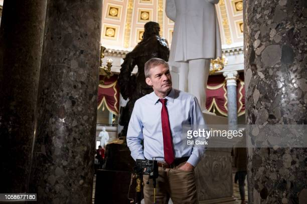 Rep Jim Jordan ROhio waits to do a television news interview in Statuary Hall in the Capitol on Wednesday Nov 7 the day after Election Day