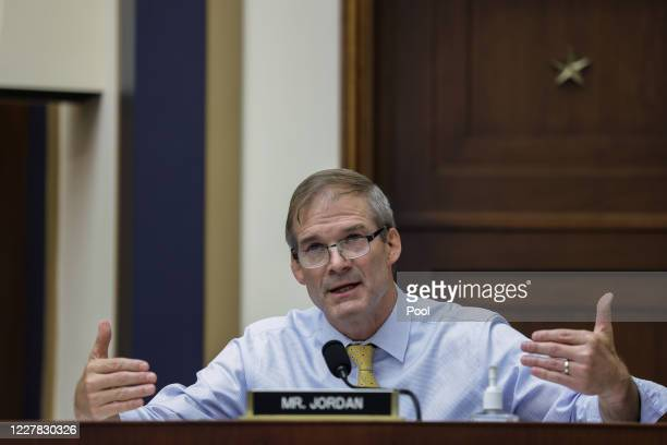 Rep. Jim Jordan speaks during the House Judiciary Subcommittee on Antitrust, Commercial and Administrative Law hearing on Online Platforms and Market...