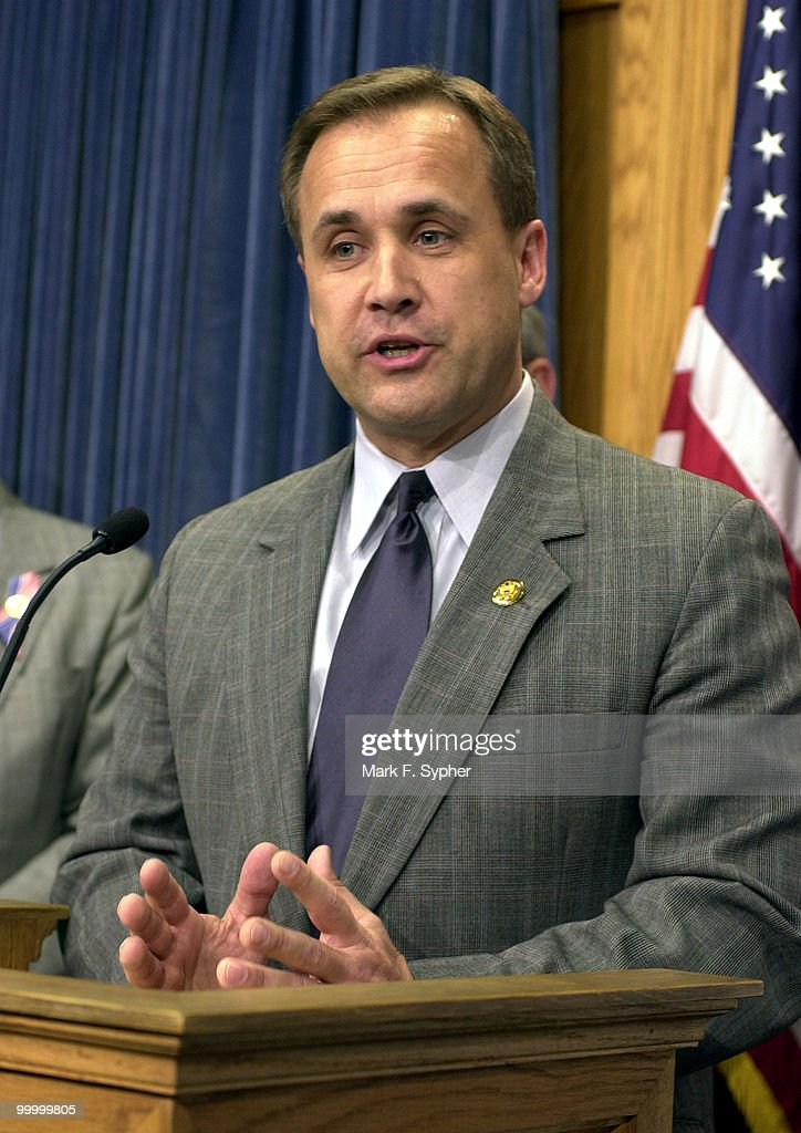 Rep. Jim Nussle (R-IA) speaks during a news conference on 'Securing America's Future for Agriculture FY2003 Budget Resolution,' in the House Radio and TV Gallery on Tuesday.