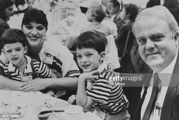 Rep Jim Sensenbrenner RWis with wife Cheryl Warren Sensenbrenner Bobby and Jimmy 1988