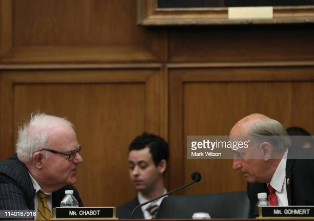 S Rep Jim Sensenbrenner talks with Rep Louie Gohmert during a House Judiciary Committee markup vote on a resolution to issue a subpoena to the...