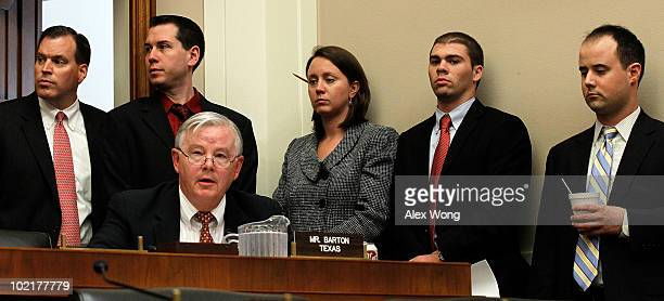 Rep Joe Barton during the hearing of BP Chief Executive Tony Hayward before the Oversight and Investigations Subcommittee on 'The Role Of BP In The...