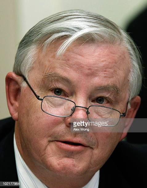 S Rep Joe Barton questions BP Chief Executive Tony Hayward during a hearing of the Oversight and Investigations Subcommittee on 'The Role Of BP In...