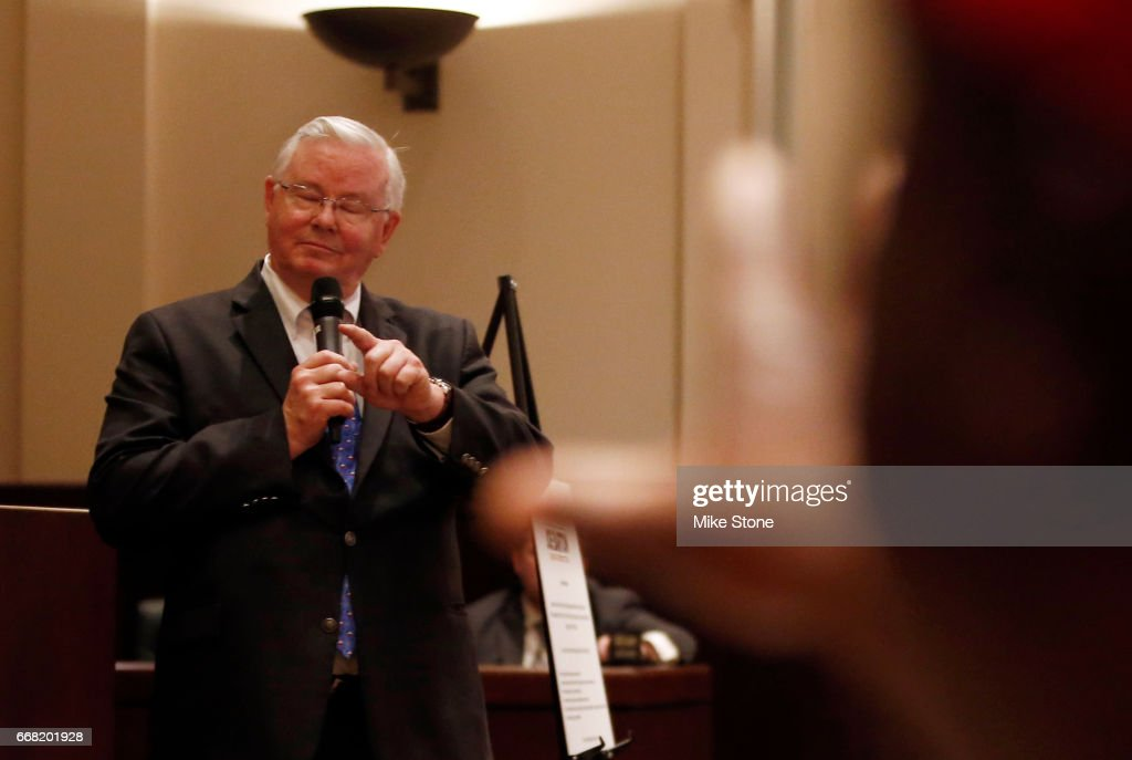 GOP Rep. Joe Barton Holds A Town Hall Meeting In Mansfield, TX