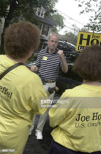 Rep Joe Hoeffel readies volunteers in Hatboro PA before a walking campaign of the district
