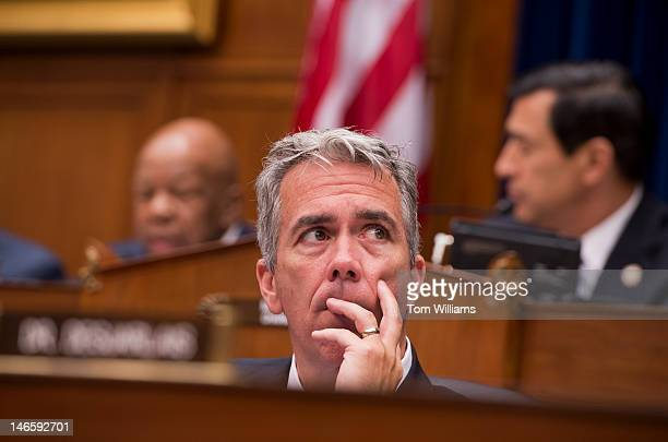 Rep Joe Walsh RIll attends a House Oversight and Government Reform Committee hearing in Rayburn to consider a contempt of Congress vote for Attorney...