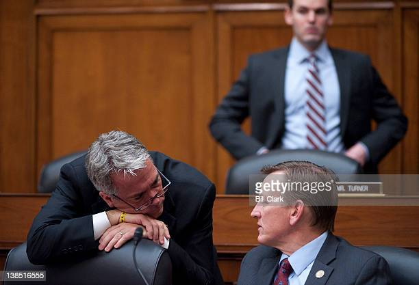 Rep Joe Walsh RIll left and Rep Paul Gosar RAriz talk during the House Oversight and Government Reform Committee hearing on The Right to Choose...