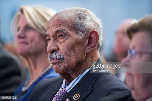 Rep John Conyers DMich attends the swearingin ceremony for Carla Hayden as Librarian of Congress in the Great Hall of the Library of Congress Thomas...