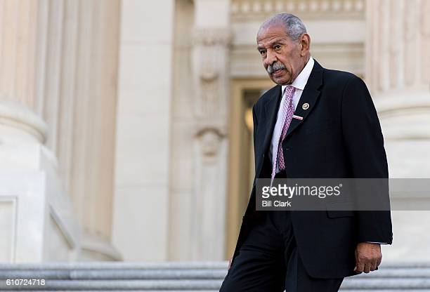 Rep John Conyers DMich walks down the House steps after a vote in the Capitol on Tuesday Sept 27 2016