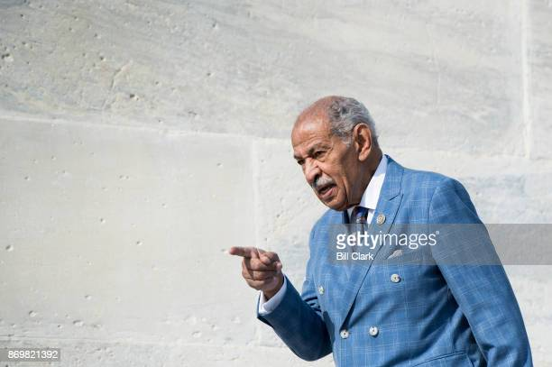 Rep John Conyers DMich walks down the House steps after voting in the Capitol on Friday Nov 3 2017