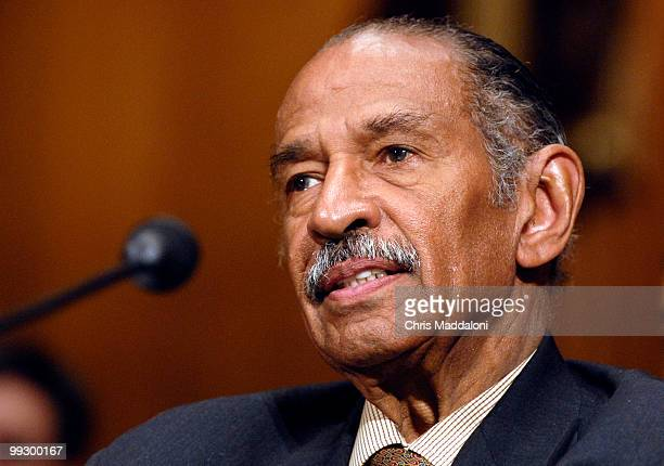 "Rep. John Conyers, Jr., D-Mi., testifies at a Senate Judiciary Committee committee hearing on ""Renewing the Temporary Provisions of the Voting Rights..."