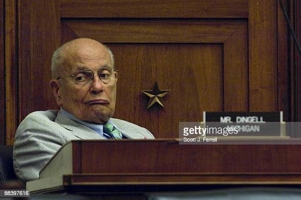 Rep John D Dingell DMich during the House Energy and Commerce Subcommittee on Health markup of a bill to amend the Federal Food Drug and Cosmetic Act...