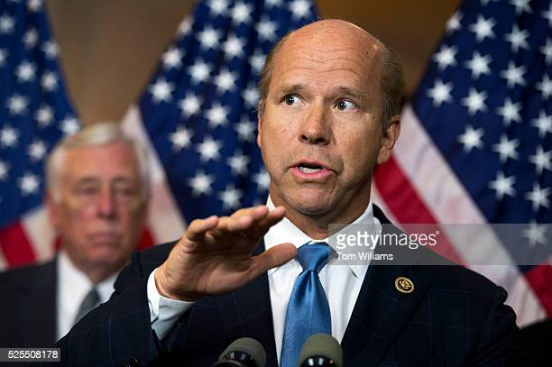 Rep John Delaney DMd speaks during news conference in Capitol Visitor Center on the fiduciary rule which is meant to help Americans save for...