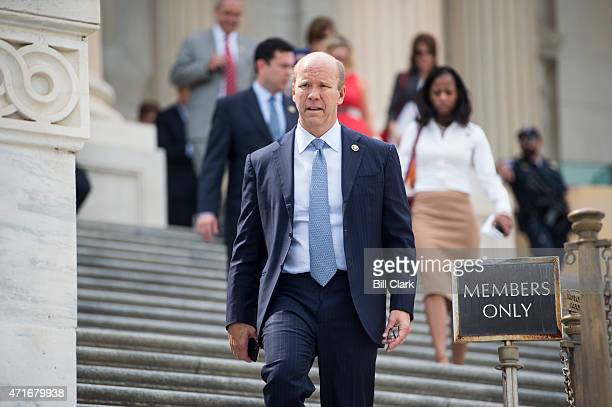 Rep John Delaney DMd walks down the House steps following votes in the US Capitol on Thursday April 30 2015